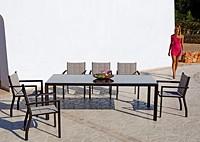 Стол прямоугольный Aqua и стулья