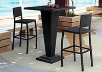 Садовая мебель: кофейный стол и 2 стула