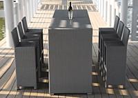 Барный комплект: 6 cтульев и стол