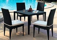 Садовая мебель: 4 стула и стол