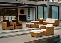 Садовая мебель: диван, 4 кресла, 4 стола