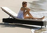 Шезлонг пляжный с матрасом