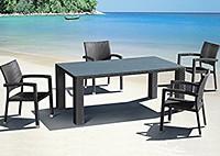 Обеденный стол со стеклом и 4 стула