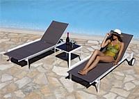 Шезлонг Aqua и столик Con Vetro
