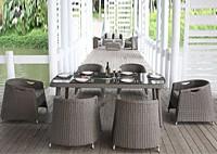 Комплект: 6 кресел, обеденный стол