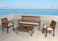 Садовая мебель из акации, стол и стулья Crizia
