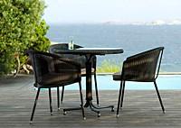 Садовая мебель: 3 кресла, обеденный стол