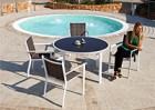 Стол круглый Aqua и стулья